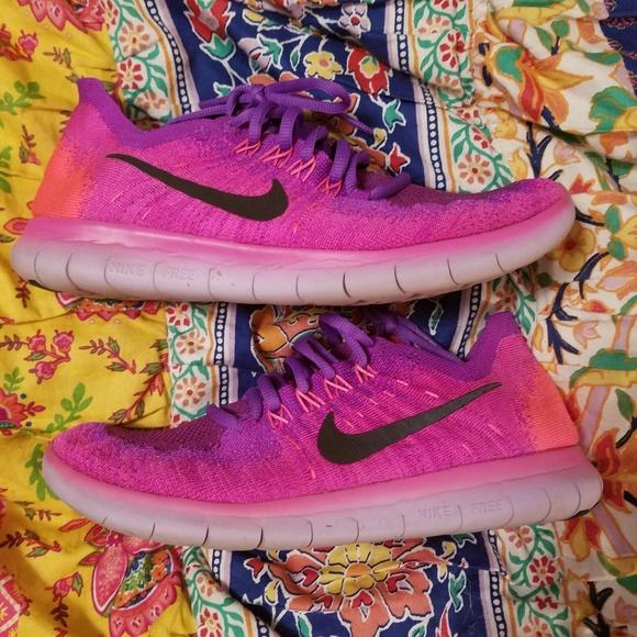 Nike Shoes Free Run Purple Neon OrangePoshmark 8 gratis løb Poshmark